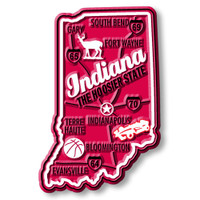 """Indiana Premium State Magnet by Classic Magnets, 1.8"""" x 2.8"""", Collectible Souvenirs Made in the USA"""