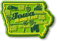 """Iowa Premium State Magnet by Classic Magnets, 2.6"""" x 1.8"""", Collectible Souvenirs Made in the USA"""