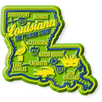 """Louisiana Premium State Magnet by Classic Magnets, 2.5"""" x 2.3"""", Collectible Souvenirs Made in the USA"""