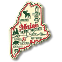 """Maine Premium State Magnet by Classic Magnets, 2.2"""" x 3"""", Collectible Souvenirs Made in the USA"""