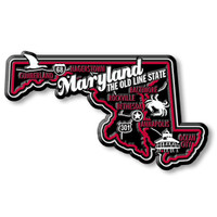 """Maryland Premium State Magnet by Classic Magnets, 3.7"""" x 2.1"""", Collectible Souvenirs Made in the USA"""