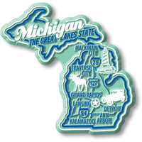 """Michigan Premium State Magnet by Classic Magnets, 2.9"""" x 2.8"""", Collectible Souvenirs Made in the USA"""