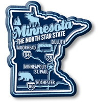 """Minnesota Premium State Magnet by Classic Magnets, 2.3"""" x 2.6"""", Collectible Souvenirs Made in the USA"""