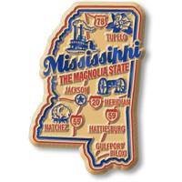 """Mississippi Premium State Magnet by Classic Magnets, 1.9"""" x 2.8"""", Collectible Souvenirs Made in the USA"""