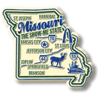 """Missouri Premium State Magnet by Classic Magnets, 2.6"""" x 2.3"""", Collectible Souvenirs Made in the USA"""