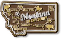 """Montana Premium State Magnet by Classic Magnets, 2.8"""" x 1.7"""", Collectible Souvenirs Made in the USA"""