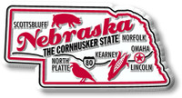 """Nebraska Premium State Magnet by Classic Magnets, 3.1"""" x 1.6"""", Collectible Souvenirs Made in the USA"""
