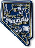 """Nevada Premium State Magnet by Classic Magnets, 1.9"""" x 2.7"""", Collectible Souvenirs Made in the USA"""