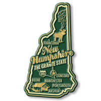 """New Hampshire Premium State Magnet by Classic Magnets, 1.9"""" x 3.4"""", Collectible Souvenirs Made in the USA"""