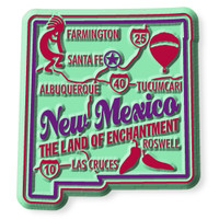 """New Mexico Premium State Magnet by Classic Magnets, 2"""" x 2.2"""", Collectible Souvenirs Made in the USA"""