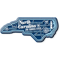 """North Carolina Premium State Magnet by Classic Magnets, 2.5"""" x 1.6"""", Collectible Souvenirs Made in the USA"""