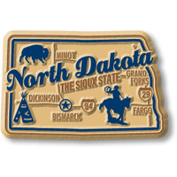 """North Dakota Premium State Magnet by Classic Magnets, 2.6"""" x 1.7"""", Collectible Souvenirs Made in the USA"""