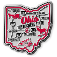 """Ohio Premium State Magnet by Classic Magnets, 2.2"""" x 2.4"""", Collectible Souvenirs Made in the USA"""