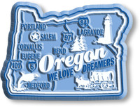 """Oregon Premium State Magnet by Classic Magnets, 2.5"""" x 1.9"""", Collectible Souvenirs Made in the USA"""