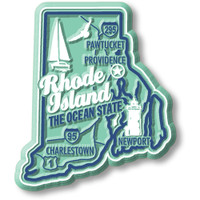 """Rhode Island Premium State Magnet by Classic Magnets, 2.2"""" x 2.6"""", Collectible Souvenirs Made in the USA"""
