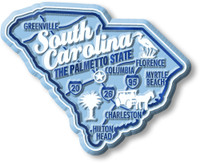 """South Carolina Premium State Magnet by Classic Magnets, 2.9"""" x 2.3"""", Collectible Souvenirs Made in the USA"""