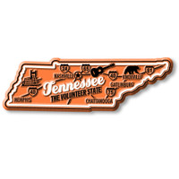 """Tennessee Premium State Magnet by Classic Magnets, 4.1"""" x 1.3"""", Collectible Souvenirs Made in the USA"""