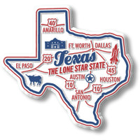 """Texas Premium State Magnet by Classic Magnets, 2.8"""" x 2.6"""", Collectible Souvenirs Made in the USA"""