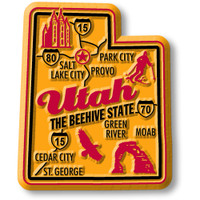 """Utah Premium State Magnet by Classic Magnets, 1.9"""" x 2.3"""", Collectible Souvenirs Made in the USA"""