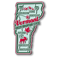 """Vermont Premium State Magnet by Classic Magnets, 1.8"""" x 3.1"""", Collectible Souvenirs Made in the USA"""