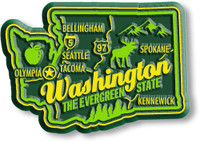 """Washington Premium State Magnet by Classic Magnets, 2.6"""" x 1.8"""", Collectible Souvenirs Made in the USA"""
