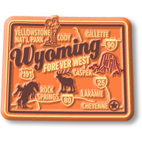 """Wyoming Premium State Magnet by Classic Magnets, 2.3"""" x 1.8"""", Collectible Souvenirs Made in the USA"""