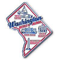 """Washington, D.C. Premium State Magnet by Classic Magnets, 2.6"""" x 3.1"""", Collectible Souvenirs Made in the USA"""