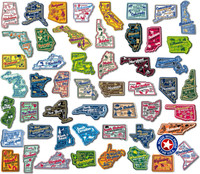 U.S. Premium State Map Magnet Set by Classic Magnets, 51-Piece Set, Collectible Souvenirs Made in the USA