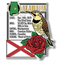 """Alabama State Montage Magnet by Classic Magnets, 2.8"""" x 3.4"""",  Collectible Souvenirs Made in the USA"""
