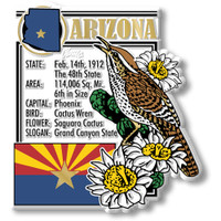 """Arizona State Montage Magnet by Classic Magnets, 3.1"""" x 3.4"""", Collectible Souvenirs Made in the USA"""