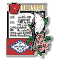 """Arkansas State Montage Magnet by Classic Magnets, 2.8"""" x 3.4"""", Collectible Souvenirs Made in the USA"""