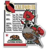 """California State Montage Magnet by Classic Magnets, 3"""" x 3.4"""", Collectible Souvenirs Made in the USA"""