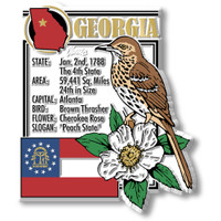 """Georgia State Montage Magnet by Classic Magnets, 3"""" x 3.5"""", Collectible Souvenirs Made in the USA"""