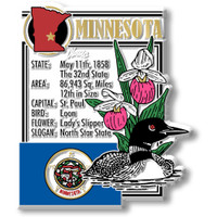 """Minnesota State Montage Magnet by Classic Magnets, 2.6"""" x 3.1"""", Collectible Souvenirs Made in the USA"""