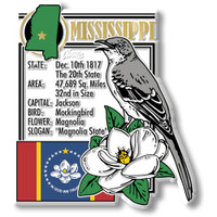 """Mississippi State Montage Magnet by Classic Magnets, 3"""" x 3.4"""", Collectible Souvenirs Made in the USA"""