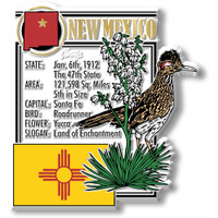 """New Mexico State Montage Magnet by Classic Magnets, 2.9"""" x 3.2"""", Collectible Souvenirs Made in the USA"""