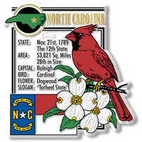"""North Carolina State Montage Magnet by Classic Magnets, 3"""" x 3.2"""", Collectible Souvenirs Made in the USA"""