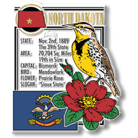 """North Dakota State Montage Magnet by Classic Magnets, 2.8"""" x 3.2"""", Collectible Souvenirs Made in the USA"""