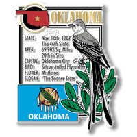 """Oklahoma State Montage Magnet by Classic Magnets, 3.1"""" x 3.2"""", Collectible Souvenirs Made in the USA"""