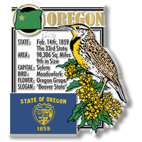 """Oregon State Montage Magnet by Classic Magnets, 3"""" x 3.1"""", Collectible Souvenirs Made in the USA"""