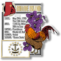 """Rhode Island State Montage Magnet by Classic Magnets, 3"""" x 3.2"""", Collectible Souvenirs Made in the USA"""