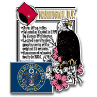 """Washington, D.C. Montage Magnet by Classic Magnets, 2.7"""" x 3.4"""", Collectible Souvenirs Made in the USA"""