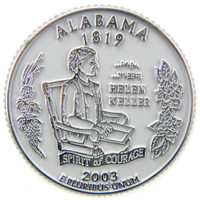 Alabama State Quarter Magnet by Classic Magnets, Collectible Souvenirs Made in the USA