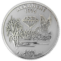 Arkansas State Quarter Magnet by Classic Magnets, Collectible Souvenirs Made in the USA