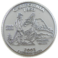 California State Quarter Magnet by Classic Magnets, Collectible Souvenirs Made in the USA