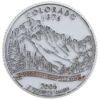 Colorado State Quarter Magnet by Classic Magnets, Collectible Souvenirs Made in the USA