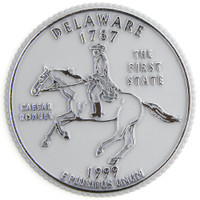 Delaware State Quarter Magnet by Classic Magnets, Collectible Souvenirs Made in the USA