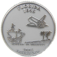 Florida State Quarter Magnet by Classic Magnets, Collectible Souvenirs Made in the USA