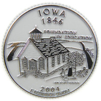 Iowa State Quarter Magnet by Classic Magnets, Collectible Souvenirs Made in the USA