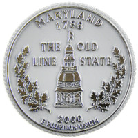 Maryland State Quarter Magnet by Classic Magnets, Collectible Souvenirs Made in the USA
